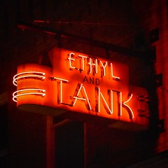 Ethyl and Tank (tim.perdue) Tags: ethyl tank bar ohio state university campus osu red neon light sign columbus color colorful