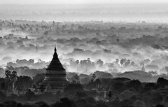 Pagodas (HWHawerkamp) Tags: myanmar bagan pagodas landscape layers mood travel monochrome
