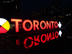 Night time in Toronto, Canada (Trinimusic2008 -blessings) Tags: trinimusic2008 judymeikle nature 3dtorontosign the3dtorontosign thetorontosign urban today november 2018 downtown bayandqueenstw city architecture night toronto to ontario canada sonydschx80 reflections