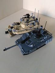 Lego M1A3 Abrams SEP V.3-TUSK 2 MBT vs Lego Leopard 2A7+ MBT (Parm Brick) Tags: lego military army moc afol tank vehicle abrams tusk2 sep3 leopard2a7 vs m1a3 m1a3abrams