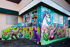 henry mural in Lake City (Dennis Valente) Tags: 2018 streetarteverywhere usa muralist washington art contemporaryurbanart streetart seattle hdr spraypaint urbanart artist 5dsr 32bit pnw aerosol muralart painting isobracketing streetartistry mural