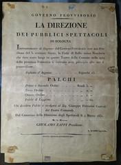 La Direzione dei pubblici spettacoli. (Renato Morselli) Tags: manifesto paper old teatro bologna