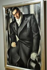 """""""Portrait de Tadesz Lempicki"""", 1928, Tamara de Lempicka (Varsovie, 1898-Cuernavaca, 1980), Musée des Années 30, avenue André Morizet, Boulogne-Billancourt, Hauts-de-Seine, Île-de-France, France. (byb64) Tags: boulognebillancourt hautsdeseine îledefrance france francia frankreich parigi paris europe europa eu ue années30 thirties musée museo museum muséedesannées30 toile cuadro painting tableau portrait porträt retrato ritratto tamaradelempicka tadeszlempicki homme man uomo hombre"""