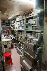 Tested test gear (Miles Cave) Tags: china shenzhen seg market used testing gear electronics vna oscilloscope psu loads function generator shop stall second hand