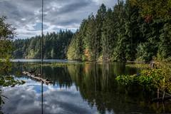 Durrance Lake (johnscratchley) Tags: landscape reflections nature vancouverisland hdr