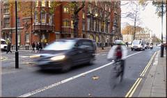 "Millbank London 52 Weeks of 2018 Week #47 See The Motion (bokosphotos) Tags: ""slowshutterspeed"" 52weeksof2018 week47 seethemotion affinityphoto affinity affinityborders motion inmotion car bike panasonicdmctz60 london millbanklondon palaceofwestminster motionphoto londonstreetphotography"
