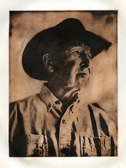 """Montana Mike"" (micalngelo) Tags: rolleiflex alternativeprocess alternativephotography chinecolle chinecolleprint printmaking photogravure solarplategravure intaglio photoetching portrait montanan"
