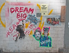 (Goggla) Tags: nyc new york manhattan east village street art streetart graffiti wheatpaste martin luther king harvey weinstein kathy griffin sacsix