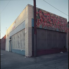 Available (ADMurr) Tags: la dtla storefront available grafitti blue red hasselblad 500cm zeiss kodak portra dac142