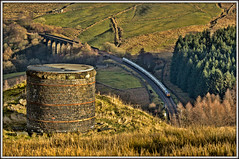 Dent'ed, Shafted, and Cemented (david.hayes77) Tags: dentheadviaduct bleamoortunnel cement freight cargo tanks 4m00 2018 autumn cumbria class66 shed sc settlecarlisle landscape tunnelshaft victoriana gbrailfreight gbrf mr midlandrailway moorland bleamoor 66720 shadow farmland pasture