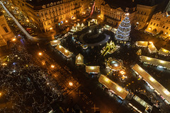 Prague Christmas Market (pboolkah) Tags: prague czechrepublic cz canon canon5d christmas market night canon5dmkiv lights architecture