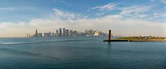 Doha, Qatar (fisherbray) Tags: fisherbray qatar stateofqatar دولةقطر dawlatqatar addawhah addawha addōḥa doha الدوحة google pixel2 museumofislamicart متحفالفنالإسلامي museum mia panorama the7sculpture 7 sculpture richardserra miaparkpier dohabay persiangulf arabiangulf water wasser