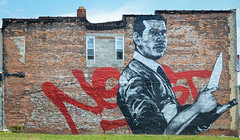 gone but not forgotten (Austin Westervelt) Tags: detroit nekst walls art graffiti color colorful tribute building brick wall paint mural
