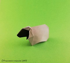 Blackface sheep (mancinerie) Tags: origami paperfolding papiroflexia papierfalten francescomancini mancinerie origamisheep