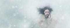 Lost ({jessica drossin}) Tags: jessicadrossin portrait woman wwwjessicadrossincom hair snow winter cold blue white face bestportraitsaoi elitegalleryaoi