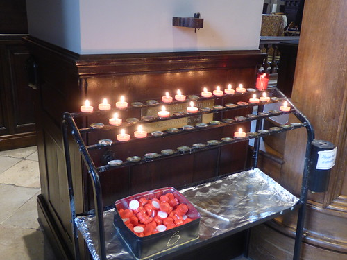 Interior of  Birmingham Cathedral - Candles