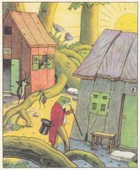 Das fröhliche Jahr / Der Wurzelsepp / Bild 2 (micky the pixel) Tags: buch book livre kinderbuch childrensbook gondromverlag schwagersteinleinkunstanstalt dasfröhlichejahr josefsteck hermannblömer derwurzelsepp doktorquack frosch frog sonnenschein