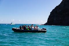 Zodiac rafting Boat tour Na Pali Coast Kauai Hawaii