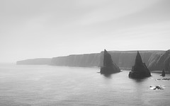 Duncansby Stacks (ShinyPhotoScotland) Tags: art photography equipment camera lens places scotland light sunlight landscape vista emotion beautiful rawconversion manipulated composite hdr brightsunlight enfuse digikam elegance composition shapely rules memories toned contentment contrasts nearfar affection peace highviewpoint skyearth tranquil colour calm dreamy rawtherapee balance raw serifaffinityphoto lightanddark pure rockwater rugged naturehappens nearmidfardistance highlands isolation monochrome blackandwhite still fuji fuji1650mm fujixt20 caithness coastal johnogroats duncansbyhead duncansbystacks structure clifftop