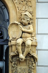 Prager Fassadendetails - 4 (fotomänni) Tags: prag prague praha jugendstil fassadenfiguren skulptur skulpturen sculpture kunst art manfredweis