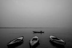 Varanasi (A. adnan) Tags: travel varanasi india boat morning winter fog