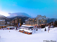 Whistler, Canada (Veselina Dimitrova) Tags: whistler britishcolumbia canada winter snow white buildings sky vacation clickcamera clickthecamera people cable car trees mountain hotel hotweather bestoftheday photooftheday pictureoftheday photography nationalgeographic naturelovers