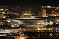 """""""La catedral"""" del Athletic (Txaro Franco) Tags: bilbao athletic estadio fútbol la catedral noche iluminación gaua lacatedral sanmamés footbal"""