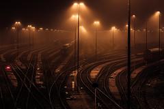 port industry (Kai-Uwe Klauss) Tags: eisenbahn hafen hamburg herbst industrie nacht nebel schienen railroad harbor night foggy schiene rail
