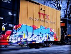 (timetomakethepasta) Tags: av8r freight train graffiti art ttx boxcar