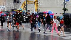 It's Raining ... It's Raining (Eclectic Jack) Tags: ddg generator dream deep processing processed process post manipulated umbrella rain raining downpour city york new newyork newyorkcity people street