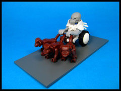 Chimp Chariot (Karf Oohlu) Tags: lego moc monkey chariot figure silly