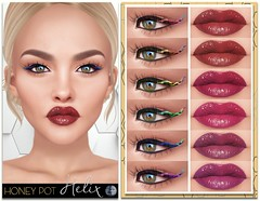 HoneyPot GENUS Helix Collection (honeypot.beauty) Tags: secondlife gaming avatar genus makeup cosmetics fashion beauty lips eyes eyeliner lipstick gloss