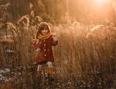 golden Winter (agirygula) Tags: gold winter january kid child childhood goldenhour wintertime wintersun yellow nature jacket fashion lovely beautyful cute sweet