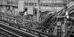 cables du metro parisien (patrick Thiaudiere, thanks for + 2 millions views) Tags: monochrome flickr friday flickrfriday cables metro nb glaciaire