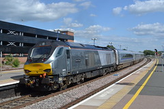 DRS 68010 Oxford Flyer (Will Swain) Tags: oxford station 21st june 2018 train trains rail railway railways transport travel uk britain vehicle vehicles england english europe midlands banbury drs 68010 flyer class 68 010 10 chiltern