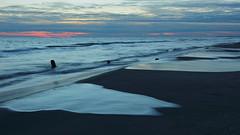 The dusk on the beach (Kaïyah) Tags: landscape seascape water camargue beach longexposure dusk sunset twilight clouds sky blue waves tide wind sand
