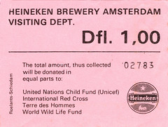 Heineken Ticket_P (foliopix) Tags: amsterdam heineken beer copper vats brewing brewery lager drink