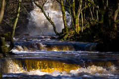 Summerhill force (tonguedevil) Tags: landscape outdoor outside view countryside winter nature woodland trees river water waterfall colour light sunlight shadows teesdale