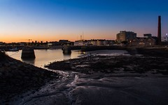 Low Tide And Mud (S00) (Darblanc ( http://darblanc.com )) Tags: canoneos7d ocean tides lowtide sea autumn fall colour stackedimages mergedimages sunrise sunset clear cityscape seascape urban urbanlife lighthouse pier france paysdelaloire loireatlantique saintnazaire canon eos7d harbour