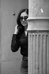 DSCF4036 (drkotaku) Tags: blackwhite blackandwhite chinatown fuji5014028 fujixt3 manhattan modeling newyorkcity photoshoot photography portraits portraiture streetportraits