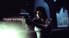 Shadow of the Tomb Raider (Matze H.) Tags: shadow tomb raider lara croft photo mode ingame logo hair face weapon pistol filter wallpaper screenshot 4k uhd hdr dark blood mud dirty motion blur