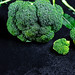 Broccoli with water drops