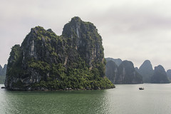 Massive (mystero233) Tags: rock halongbay halong bay vietnam asia water sea ocean unesco boat island ship jungle green lush vegetation nature outdoor landscape holiday travel sky clouds