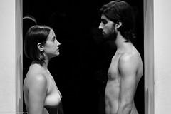 Marina Abramovic -Imponderabilia (Lorenzo Venturini - Lorebike) Tags: abramovic palazzo strozzi firenze fuji xt2 bw imponderabilia the cleaner