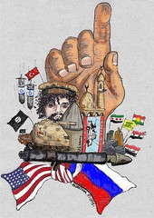 Middle East Conflict (Amontesinos92) Tags: middle east conflict middleeast orient islam cartoon caricatura islamic rusia usa war guerra