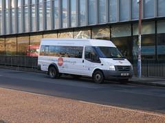 Coach Hire Edinburgh of East Calder Ford Transit YH11YNK at Potterrow, Edinburgh, on 14 January 2019. (Robin Dickson 1) Tags: busesedinburgh coachhireedinburghofeastcalder fordtransit yh11ynk