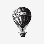 Vintage hot air balloon illustration thumbnail