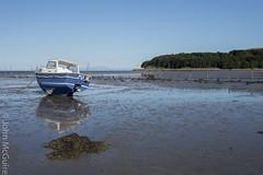 Auchencairn Beach (jmags53) Tags: solway boat beach seascape tide salmon fishing nets