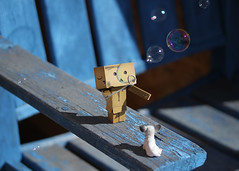 313/365 Blowing Bubbles (Helen Orozco) Tags: 313365 danbo bubbles 2018365 toy chihuahua