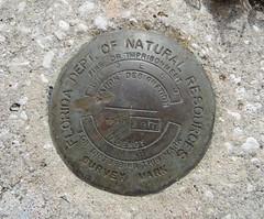 FL DNR Survey Mark JEG9 Steinhatchee FL (POsrUs) Tags: ©lancetaylor posrus taylorcounty surveymark surveymarker benchmark departmentofnaturalresources